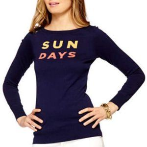Lilly Pulitzer Sun Days Navy Crewneck Sweater